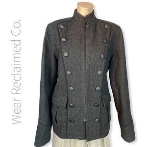 TRISTAN Military Inspired Wool Blend Winter Coat